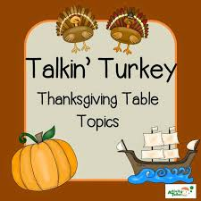speechie freebies thanksgiving table topics