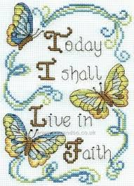praying matthew 26 39 bible verse cross stitch kit 10x12