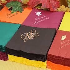 custom printed fall theme cocktail napkins set of 50