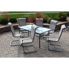 7 Pc Patio Dining Set - elissa 7 piece patio dining set seats 6 walmart com