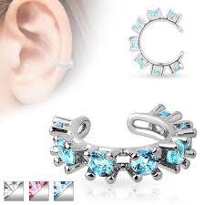 earrings for cartilage new rhinestone women ear cuff fashion clip earrings cartilage