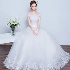 wedding dress korea 2017 korean style shoulder wedding dress fashion