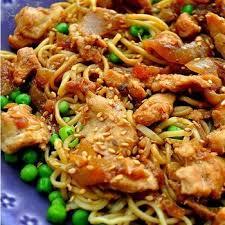 cuisine by hanane poulet nouilles à la sauce soja au miel par le recettes by
