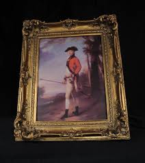 english georgian oil painting nobleman red coat portrait gilt