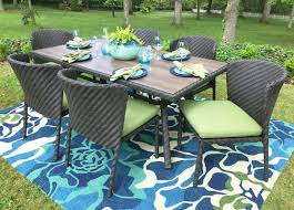 Patio Tablecloth by Ae Outdoor Elaine 7 Piece Dining Set With Cushions U0026 Reviews Wayfair