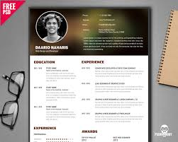 free creative resume template psd psddaddy com