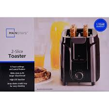 Cheap Toasters For Sale Mainstays 2 Slice Toaster Black Walmart Com