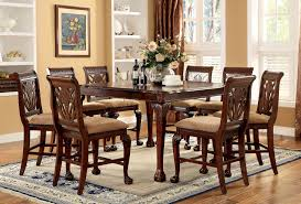 High Dining Room Table Set by Counter Height Dining Set Dinette Furniture Pedestal Table Wood