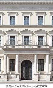 neoclassical style building facade in neoclassical style as architectural stock