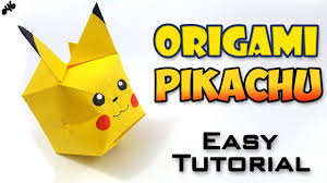 origami pikachu easy tutorial english version youtube