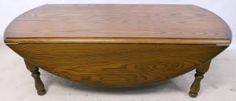Drop Leaf Oak Table Circular Dropleaf Oak Coffee Table By Charm