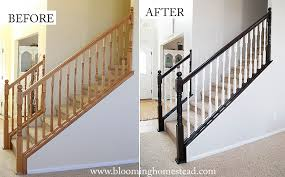 Stair Railings And Banisters Diy Stair Railing Makeover Blooming Homestead