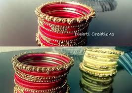 make bracelet with thread images I am making silk thread bangles i need some plain metal bangles