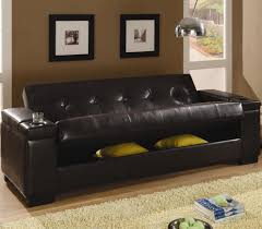 Tufted Sofa Sleeper by Coaster Faux Leather Convertible Sofa Sleeper With Storage 300143