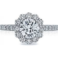 diamond rings round images Tacori round blooming halo diamond engagement ring h l gross png