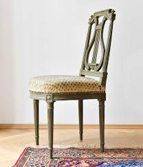 Esszimmerst Le Antik Vier Antike Lyra Stühle