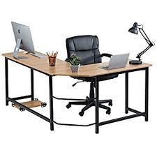 amazon com fineboard stylish l shaped office computer corner desk