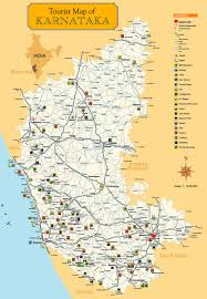 State Capitol Map by Excellent Tourist Map Of Karnataka State South India The Capital