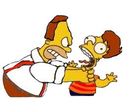homer abe simpson strangling little homer by darthraner83 on deviantart