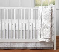 Unisex Crib Bedding Sets Nantucket Palm Baby Bedding Pottery Barn Kids