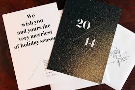 new year new address cards gold leaf cards and new year s invitations union creative