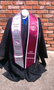 personalized graduation stoles graduation stole idea found on hbcu graduation stoles website
