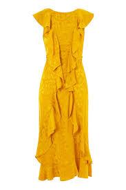topshop dress jacquard ruffle midi dress topshop