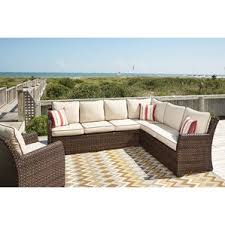 Outdoor Patio Sectional Sofas  Loveseats Wayfair - Outdoor furniture sectional