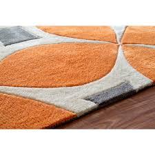 Orange Area Rug Grey And Orange Area Rug 7 Photos Home Improvement