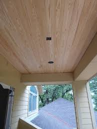 Pine Ceiling Boards by Drywall Done V Board Begun