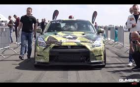 nissan gtr quad turbo video 1800hp r35 nissan gt r ams alpha sets euro 1 2 mile record