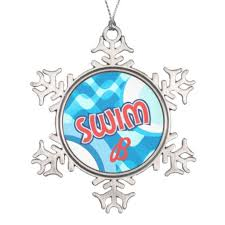 best recommended customize swimmer monogram ornaments customize