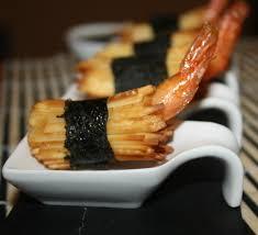 cuisine en bouche amuse bouche apéritif aux crevettes à la japonaise la cuisine de