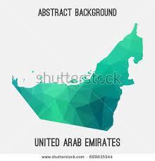 uae map united arab emiratesuae map geometric polygonalmosaic stock vector