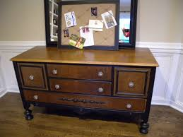 antique buffet and mirror before and after clockwork interiors