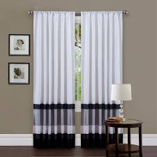 Black And Gray Curtains Lush Decor Sky Window Curtain Set Hayneedle