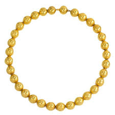 beads gold necklace images 19th century gold bead necklace at 1stdibs jpg