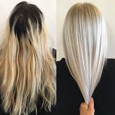 does hair look like ombre when highlights growing out makeover grown out and faded to ice blonde career sherman
