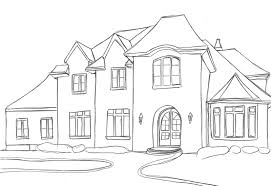 houses dream house sketches basic outline drawing home plans