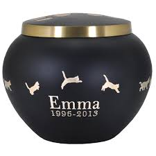 cremation urns for pets pet cremation urns gold pawprints with leaping