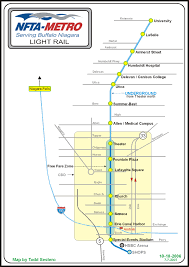 Train Map New York by Buffalo Light Rail