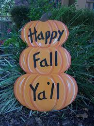 stacked pumkins happy fall ya u0027ll halloween yard art by shirleys