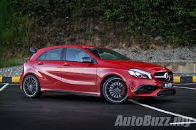 mercedes amg 45 review review 2016 mercedes amg a 45 4matic baby bad autobuzz my