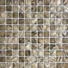 Mother Of Pearl Tile Backsplash Brown Sea Shell Mosaic Bathroom - Seashell backsplash