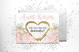 to be card personalized scratch will you be my godmother