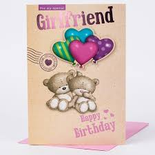 hugs birthday card for my special girlfriend only 99p