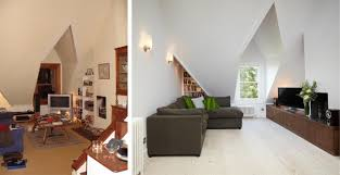before and after london loft conversion sitting room residence