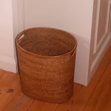 fine oval waste paper basket with metal liner kosmopolitan