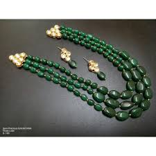 wedding bead necklace images Wedding green bead necklace earring jewelry set at rs 1450 set jpg