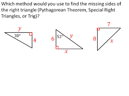 today in geometry u2026 review methods solving for missing sides of